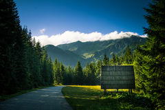 A beautiful Tatry mountain landscape in a sunny day. In Slovakia stock images