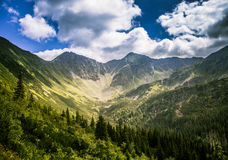 A beautiful Tatry mountain landscape in a sunny day. In Slovakia royalty free stock photography