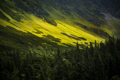 A beautiful Tatry mountain landscape in a sunny day. In Slovakia royalty free stock photos