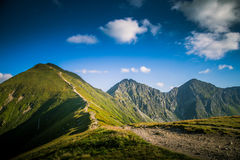 A beautiful Tatry mountain landscape in a sunny day. In Slovakia royalty free stock photo
