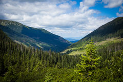 A beautiful Tatry mountain landscape in a sunny day. In Slovakia royalty free stock image