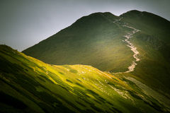 A beautiful Tatry mountain landscape in a sunny day. In Slovakia stock photos
