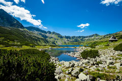 Beautiful Tatry mountains landscape Five Lakes Valley. Beautiful panorama in Tatry mountains, Five Lakes Valley, Dolina Pieciu Stawow royalty free stock image