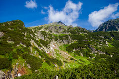 Beautiful Tatry mountains landscape Five Lakes Valley Stock Photography