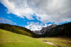 Beautiful Tatry mountains valley landscape Stock Images