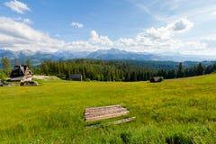Beautiful Tatry Rusinowa Polana landscape. Beautiful panorama in Tatry mountains glade, Rusinowa Polana stock photos