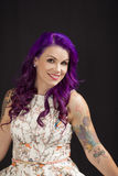 Beautiful tattooed model Stock Photo