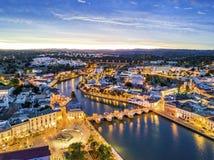 Beautiful Tavira by Gilao river, Algarve, Portugal Royalty Free Stock Photo