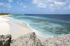 Te Amo Beach in Bonaire. Beautiful Te Amo Beach a Great Location for Kayaking and Snorkeling Stock Photo