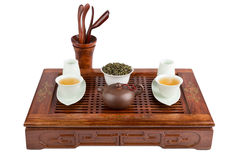 Beautiful tea ceremony set Stock Photography