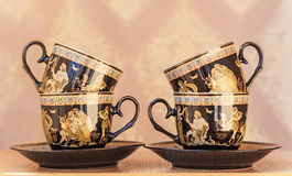 Beautiful tea cups and saucers Royalty Free Stock Photo