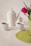 Beautiful tea service on table Royalty Free Stock Photo