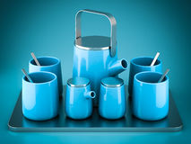 Beautiful tea set Stock Photo