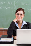 Beautiful teacher Stock Image