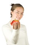 Beautiful teacher with apple Royalty Free Stock Photo
