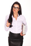 Beautiful teacher With Books Royalty Free Stock Image