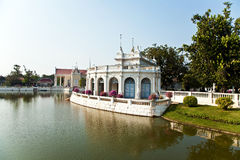 Beautiful teahouse in the Sommerpalace Bang Pa In. Of the King of Thailand near Ajuttaya Stock Photo