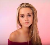 Beautiful teen blonde in studio Stock Photography