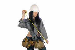 Beautiful Teen Construction Worker (2) Royalty Free Stock Photos