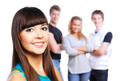 Beautiful teen gir royalty free stock photography