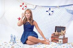 Beautiful teen gir sitting Stock Photography