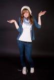 Beautiful teen girl stock photo
