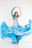 Beautiful teen girl belly-dancer in fashion dress Royalty Free Stock Images