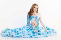 Beautiful teen girl belly-dancer Royalty Free Stock Images