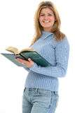Beautiful Teen Girl with Book Royalty Free Stock Images