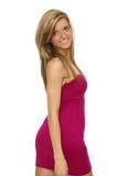 Beautiful teen girl with long hairs Stock Photography