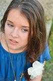 Beautiful teen girl looking away Royalty Free Stock Photography