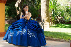 Beautiful teen girl. Lovely teen girl siting in a park Royalty Free Stock Image