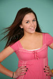 Beautiful teen girl with nice teeth Stock Photography