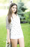 Beautiful teen girl outdoor Royalty Free Stock Images