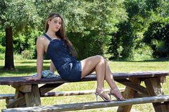Beautiful Teen Girl Outdoors (6) Stock Photos