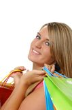 Beautiful teen girl shopping Stock Photo