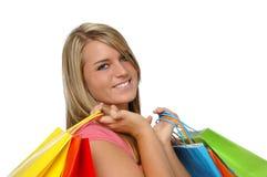 Beautiful teen girl shopping Royalty Free Stock Photos