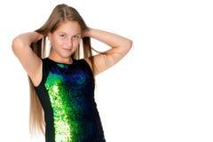 Teenage girl, studio photo royalty free stock images