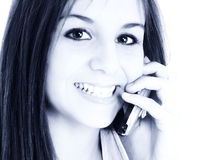 Beautiful Teen Girl Speaking On Cellphone Stock Image