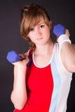 Beautiful teen girl in sport dress stock photography