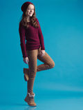 Beautiful teen girl in trendy clothes Stock Images