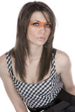 Beautiful Teen with Orange Stripe Across her Eyes Stock Images