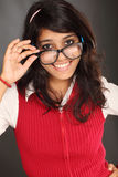 Beautiful teen wearing glasses Royalty Free Stock Photo