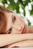 Beautiful teen woman Stock Images