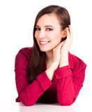 Beautiful teen woman smiling Royalty Free Stock Photos