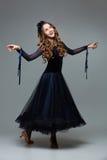 Beautiful teenage ballroom dancer Royalty Free Stock Images