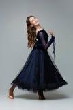 Beautiful teenage ballroom dancer Royalty Free Stock Photography
