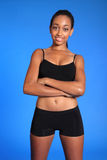 Beautiful teenage black athlete sports underwear Stock Image