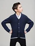 Beautiful teenage boy as a fashion model. Stock Images