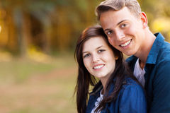 Beautiful teenage couple Stock Photo